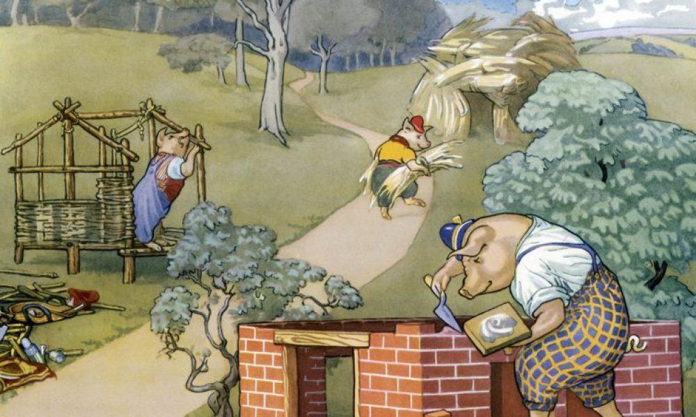 La fable des 3 petits cochons version écologique !